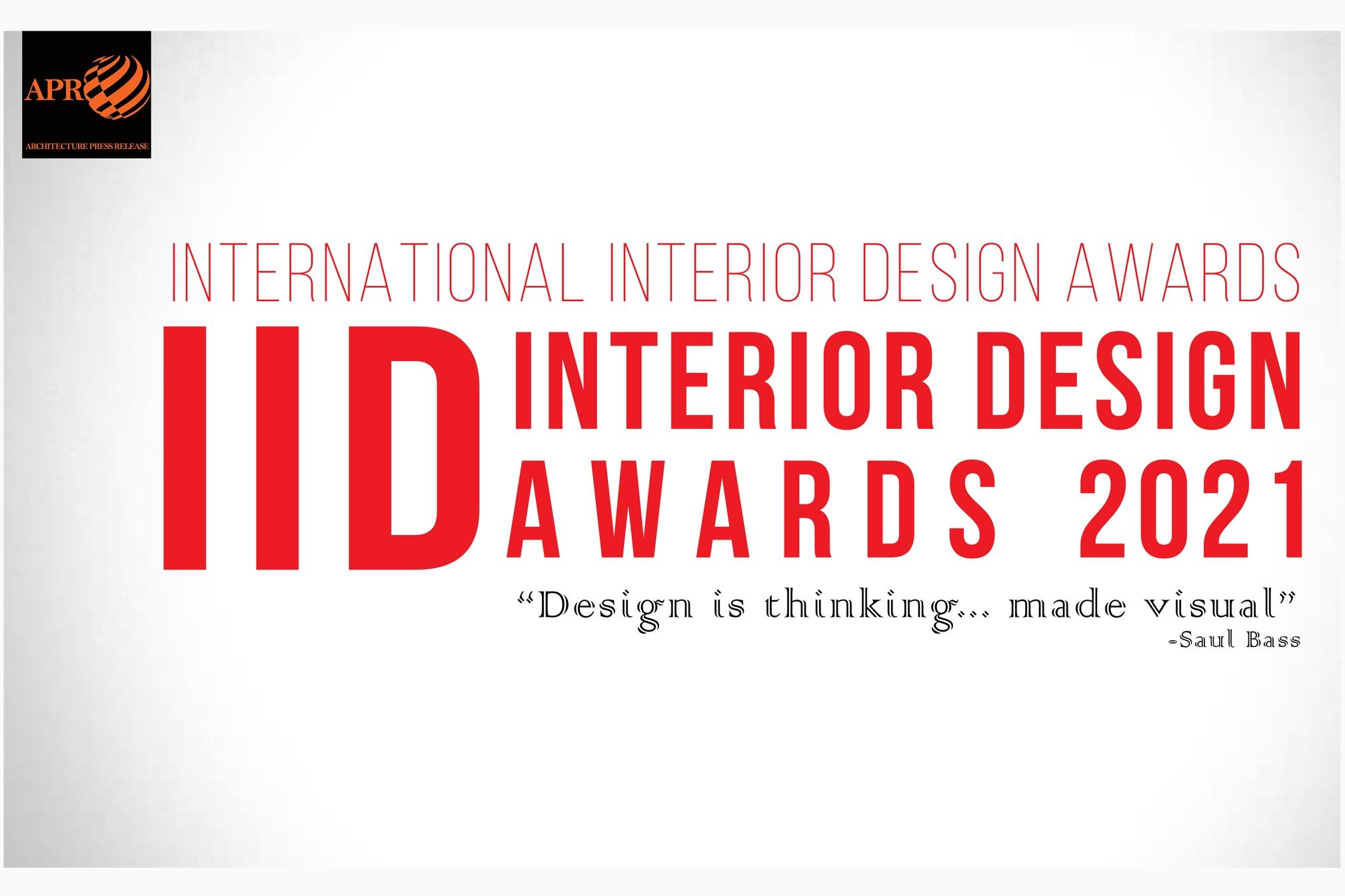 International Interior Design Awards 2021 (IIDA)