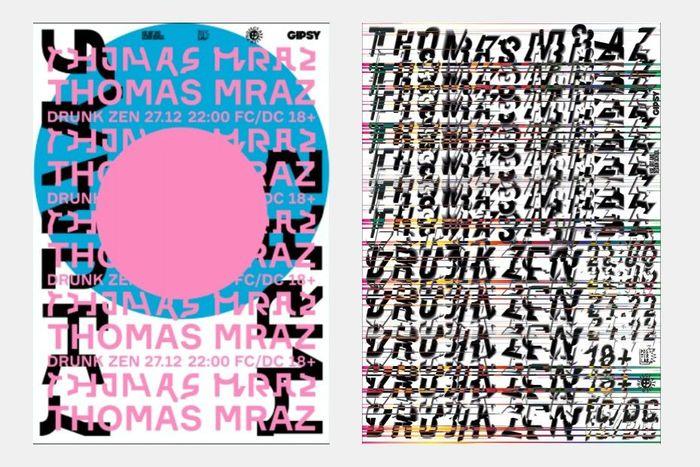 Выставка плакатов наконцерте рэп-артиста Thomas Mraz вклубе GIPSY