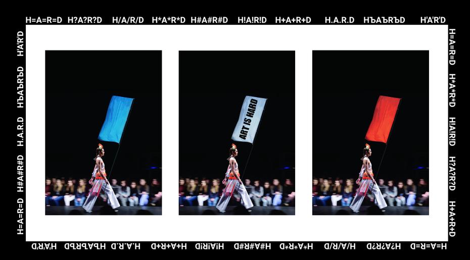 Показ коллективного бренда HARD 002на Mercedes Benz Fashion Week. Работа студентов 3курса профиля «Дизайн одежды»