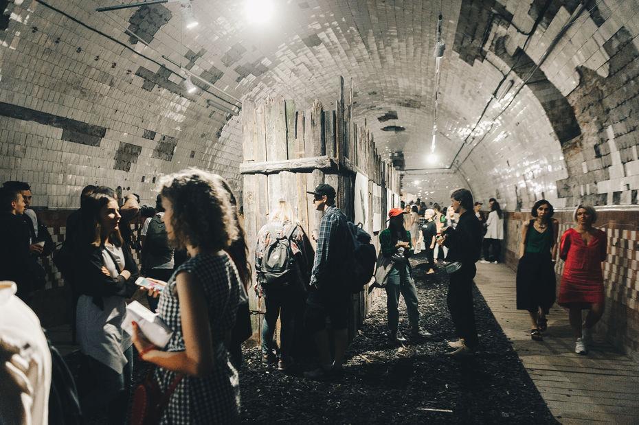 Проект «Складки», Александра Кузнецова, Биеннале уличного искусства «Артмоссфера», Винзавод, 2018