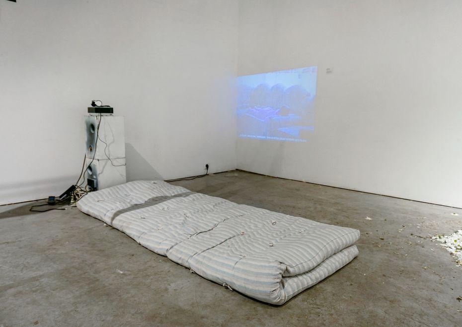 Видеоинсталляция «Законы просты», студентка Софья Киселева, профиль «Дизайн исовременное искусство»