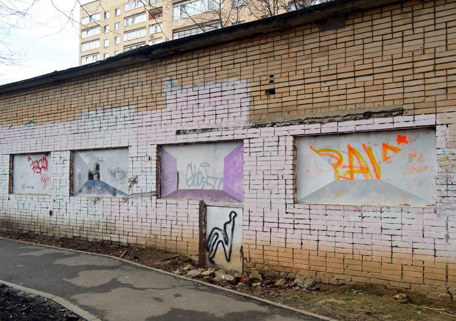 «Пространство обманки-0», студентка Елена Власова, профиль «Дизайн исовременное искусство»