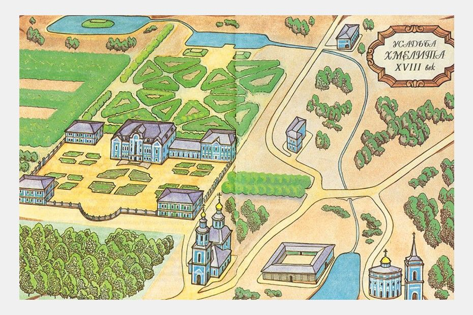 Карта Хмелиты XVIIIвека. Источник: nasledie.admin-smolensk.ru