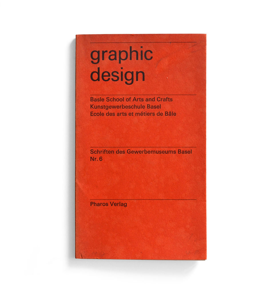 Публикации Музея прикладных искусств Базеля. Schriften des Gewerbemuseums Basel. Emil Ruder/ graphic design. Обложки.1971, 1967 годы