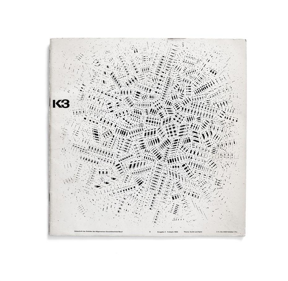 K3— студенческий журнал Школы прикладных искусств Базеля. Обложка.1964 год
