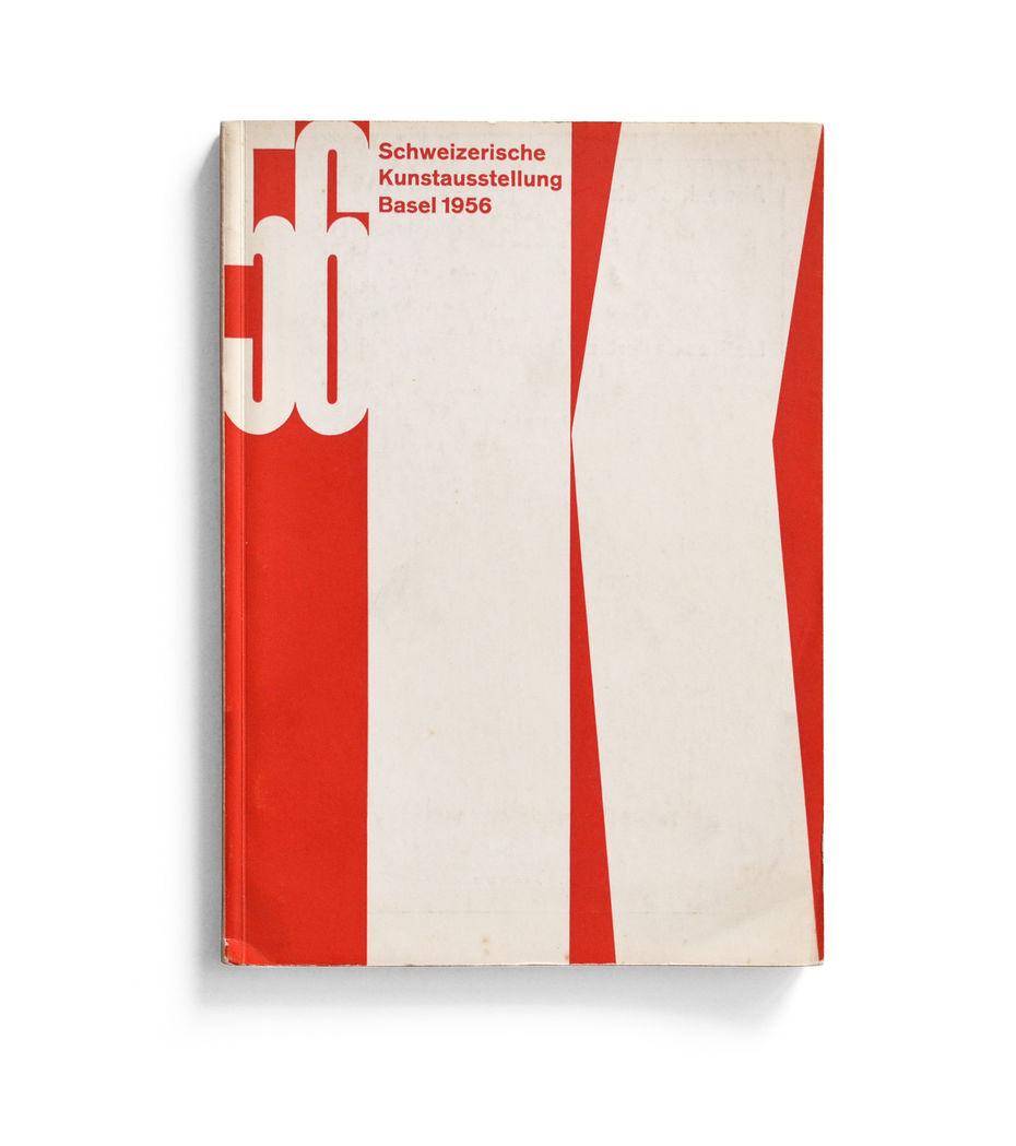 Каталог выставки Schweizerische Kunstausstellung Basel. Обложка.1956 год