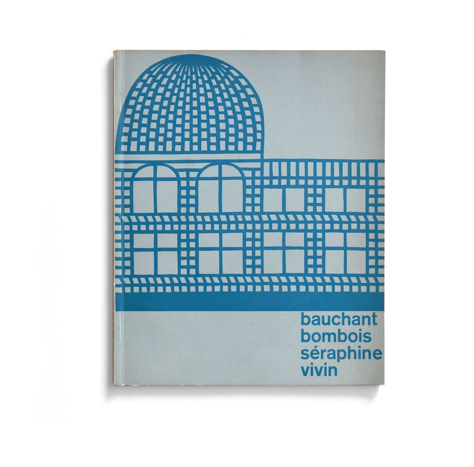 Каталог выставки Bauchant Bombois Séraphine Vivin. Обложка.1956 год