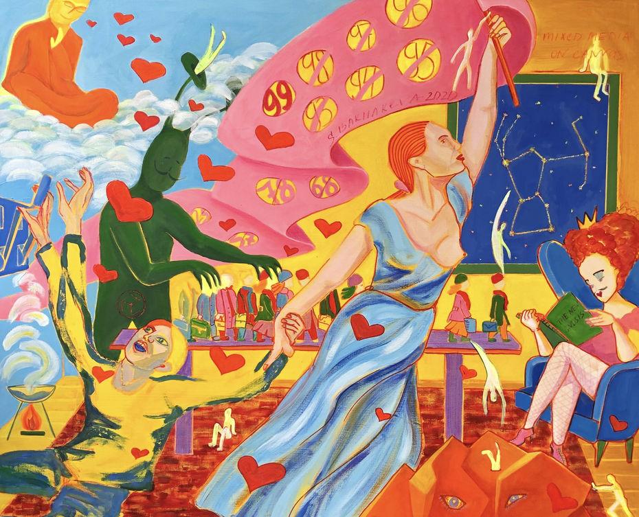 Светлана Бахарева, «Осознание неизбежного», 110×90см