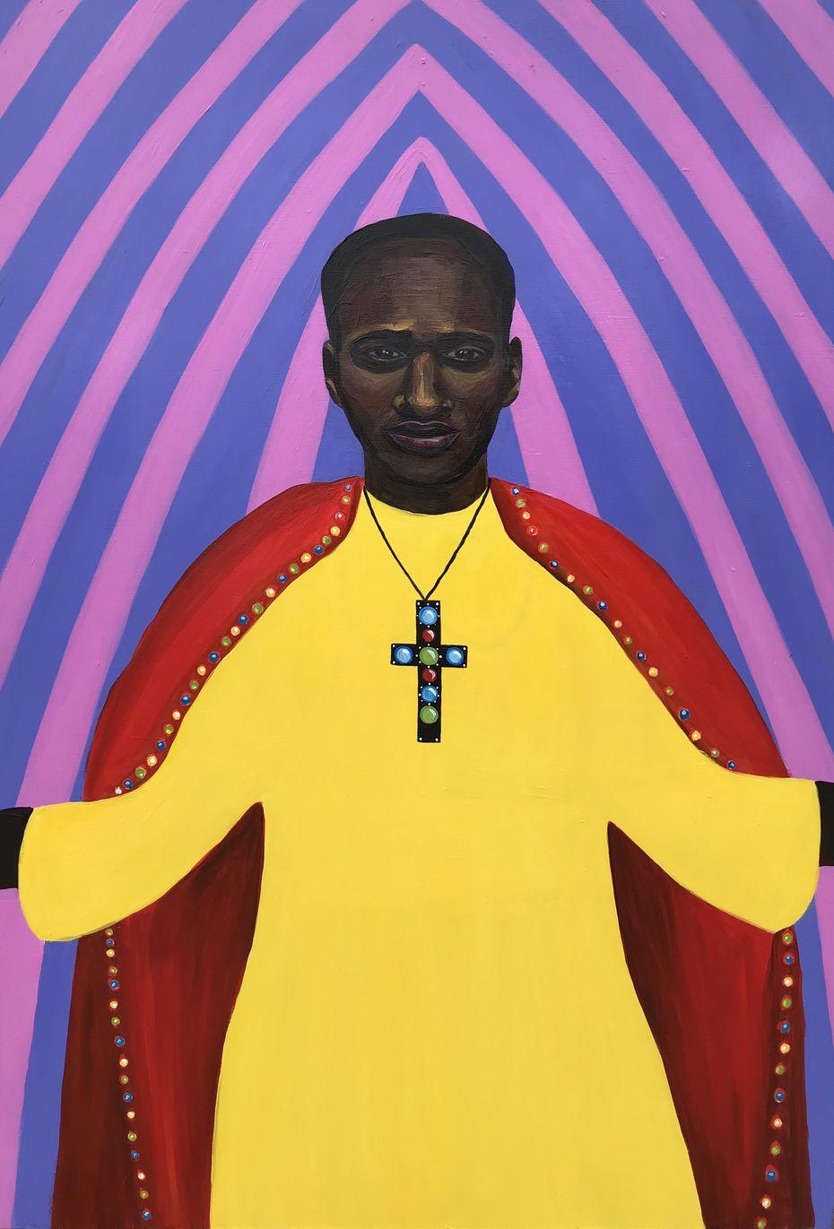 Виола Севостьянова, The Disco Pope, 2020, Холст, акрил 100×70см