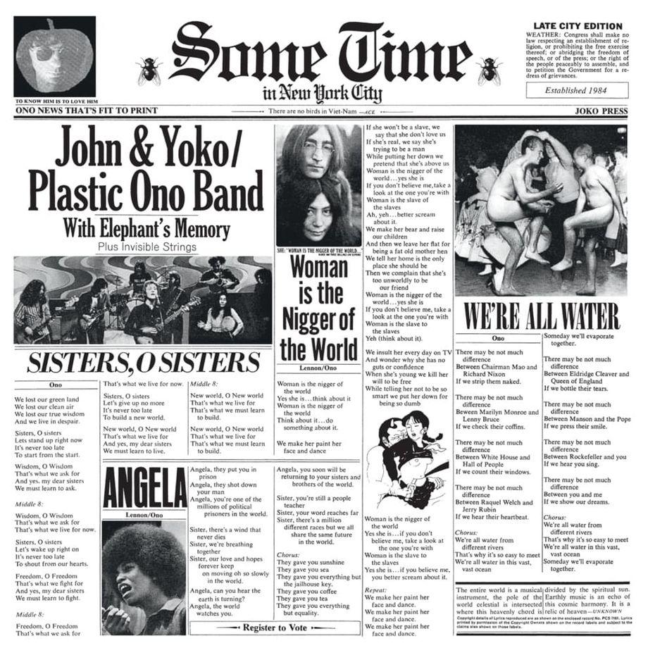 Обложка альбома Леннона иОно. Изображение: сайт https://www.ebay.co.uk/