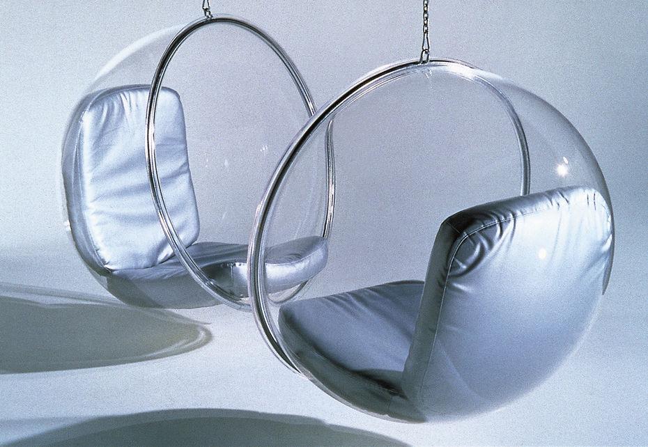 Кресло Bubble. Акрил, сталь икожа или cобивкой изполиуретанового волокна.1968