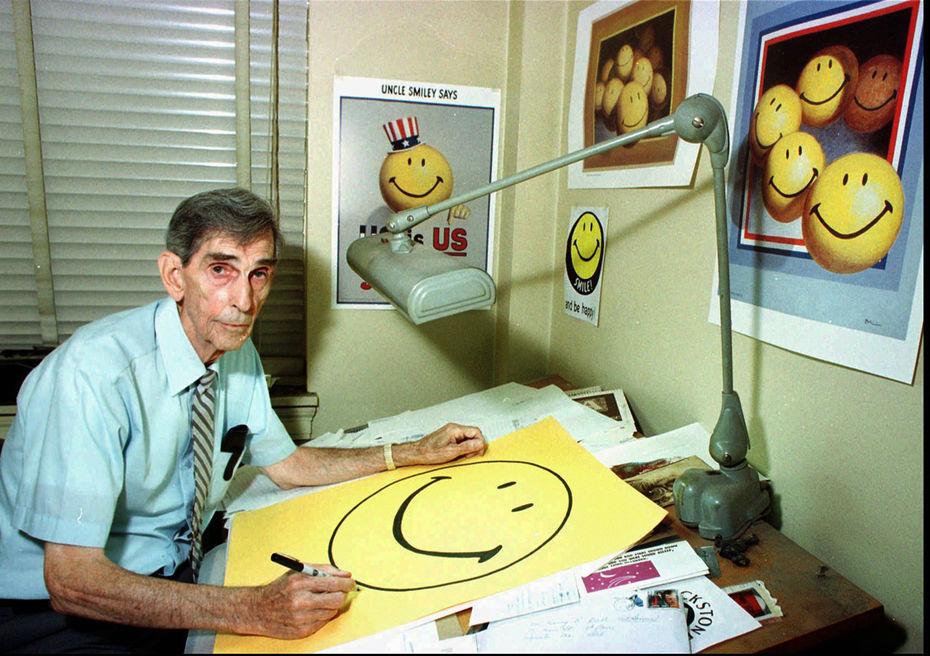 Создатель желтого смайлика Харви Болл. Изображение: сайт https://www.spiegel.de/