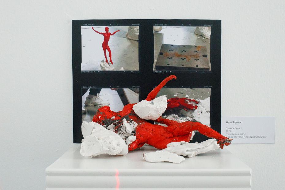 «Проверка напрочность», Александра Сыренова, Света Керро. Галерея «Ходынка». 2021.Фото: Мария Мизина