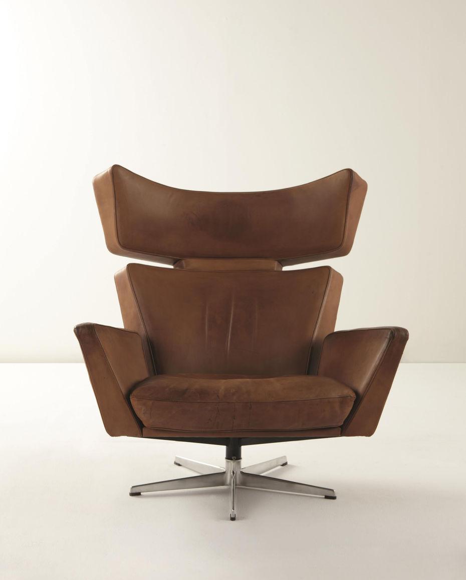 OX-chair. Кресло «Бык». Производство компании Fritz Hansen. Лимитированная серия 300экземпляров.1966 год